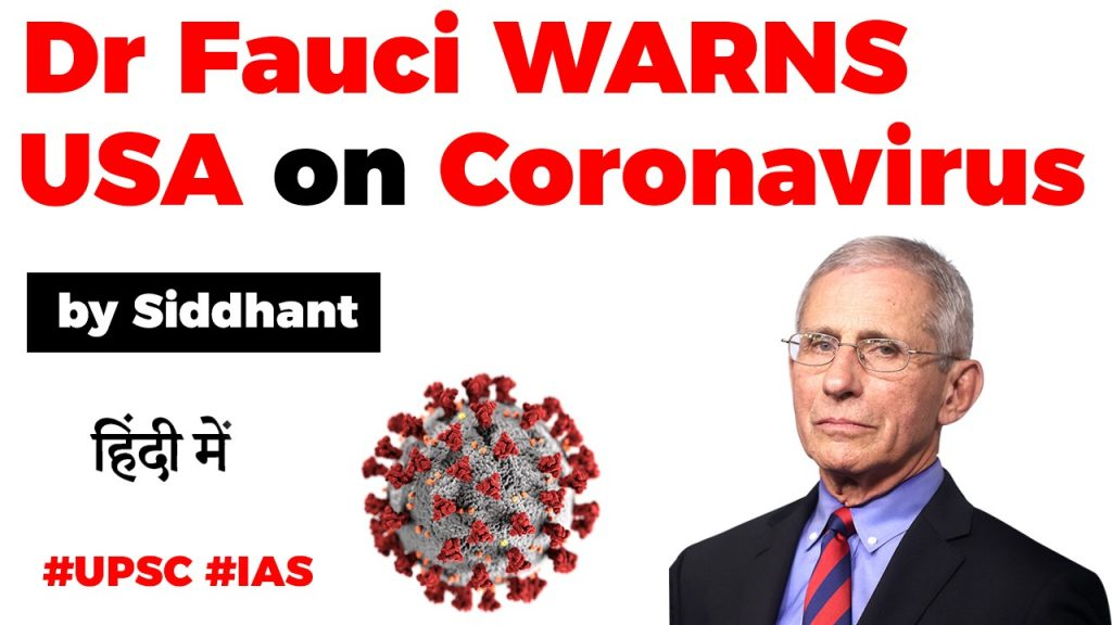 Anthony Stephen Fauci Warning To USA (COVID 19)